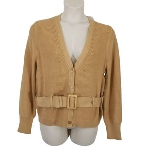 Belted Cardigan Sweater Tan Button Down Free Press